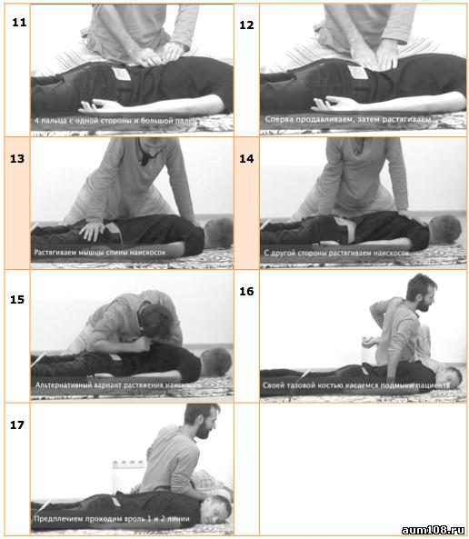 Фото тайского массажа спины